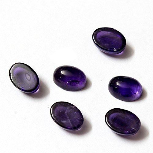 Be You Violet Couleur Naturelle Afrique Amethyste AA Qualité 7x5 mm Taille Cabochon Ovale Forme Pierres précieuses en Vrac 20 Pièces