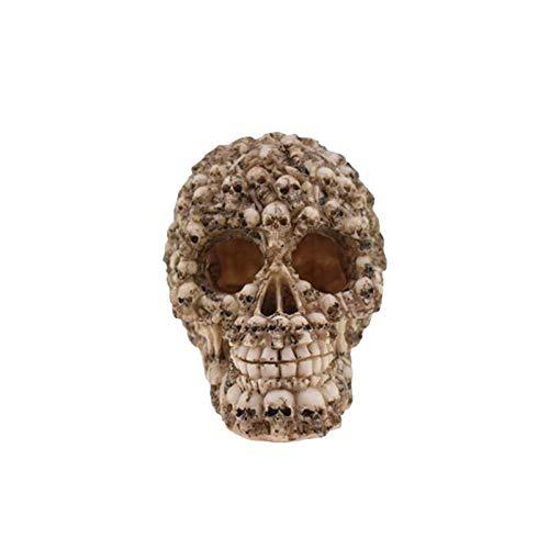Erqingzs decorazione di halloween halloween skull decor spoof realistico novità horror resina commedia cranio umano testa forma prop toy ornament decor