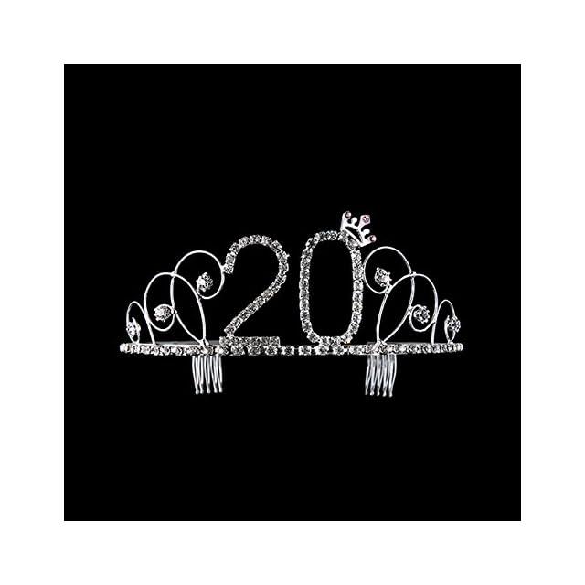 Falliback Anniversaire De Couronne Populaire Hot Strass Haute Qualit/é Couronne Coiffe Accessoires De Mariage Diad/ème Anniversaire Couronne De Rhinestone DE 20 Ans