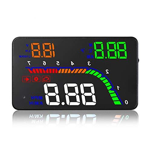 Display a 4 teste per auto OBD HUD Proiettore parabrezza OBD2 con indicatore di fatica a velocità RPM MPH Consumo di carburante