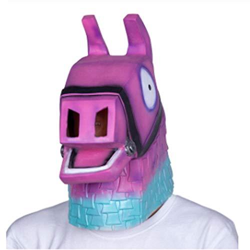 Kostüm Maske Lama - LKJH Maske Rosa Lama Kopf Maske Adult Party Kostüm Maske Tier Pferd Maske