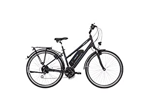 "Fischer E-Bike TREKKING Damen ETD 1801, Anthrazit, 28"", RH 44 cm, Hinterradmotor 36 V/396 Wh, Shimano 24-Gang-Schaltung"
