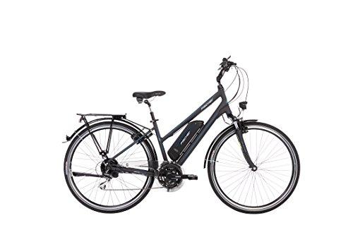 FISCHER Damen - E-Bike Trekking ETD 1801 (2018), anthrazit matt, 28 Zoll, RH 44 cm, Hinterradmotor, 48 V Akku