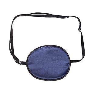 HEALIFTY Seidenaugen-Patches Einzelaugenmaske Piraten-Augenabdeckung für Lazy Eye Training (Erwachsene Style Navy)