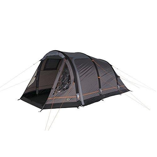 Portal Camping-Zelt Alfa 5 aufblasbares AirTube Tunnelzelt mit Schlafkabine für 5 Personen Outdoor Familienzelt mit Wohnraum, eingenähte Bodenwanne, wasserdicht mit 5000mm Wassersäule inkl. Pumpe -