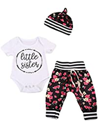 eb62446cc00f4 Rush Dance Boutique Newborn Lil Little Sister OR Big Sister Outfit Dress  Sets (70 (