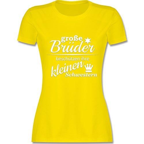 Sprüche - Große Brüder - tailliertes Premium T-Shirt mit Rundhalsausschnitt für Damen Lemon Gelb