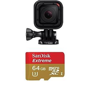 GoPro HERO Session Actionkamera (8 Megapixel, 38 mm, 38 mm, 36,4 mm) + SanDisk Extreme 64GB microSDXC bis zu 90 MB/Sek, Class 10, U3 Speicherkarte mit Adapter