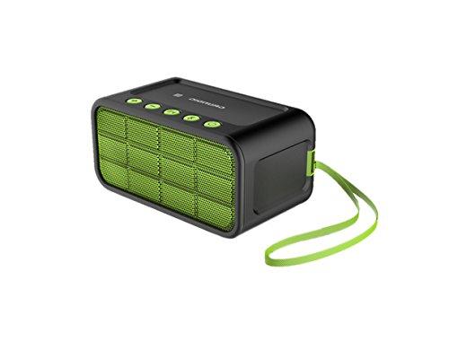 Grundig GSB 200 - Altavoces Bluetooth (NFC, AUX), color verde y negro