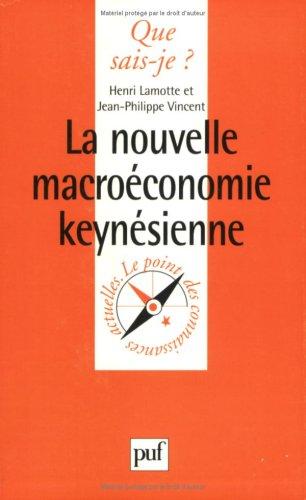La Nouvelle Macroconomie keynsienne