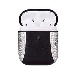 airpods 1 Schutzhülle kompatibel mit Apple airpods 1 Silikon Leder Schlank Leicht airpods 1 Hülle Apple Wireless Headphone Case Schlange Schutzhüllen Kompatibel mit dem Apple airpods 1