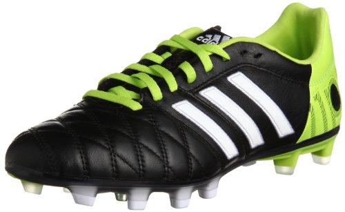 Adipure 11 Pro TRX FG - Chaussures de Foot Noir/Blanc/Solar Slime Blanc