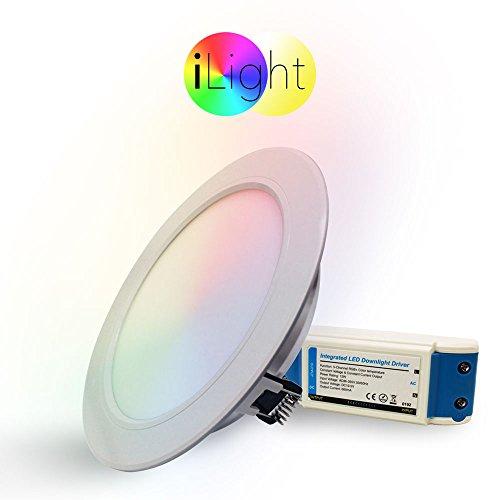 s.LUCE iLight LED-Einbaupanel Ø18 cm 1056lm RGB+CCT LED-Lampe Farbwechsel & Dual White weiss und farbig Funksteuerung SmartLED Panel Funk Dual-white Led