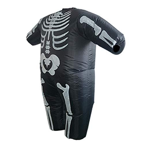 Fenteer Horror Skelett Aufblasbares Kostüm/ Anzug Fatsuit Cosplay und Karneval Outfit, Haltbar und Hochwertig (Fett Skelett Kostüm)