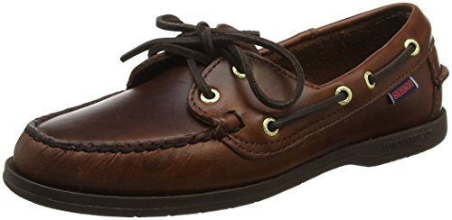 Brown Waxy Leder (Sebago Damen VICTORY Brogue Schnürhalbschuhe, Braun (BROWN OILED WAXY), 36 EU)