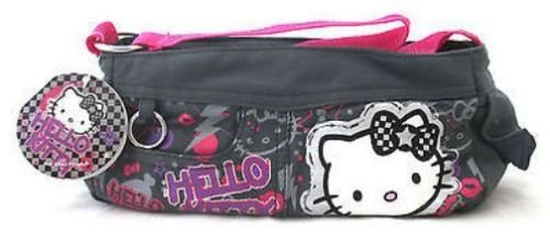 Hello Kitty Graffiti pequeño hombro bolsa o estuche con correa Make Up Bag
