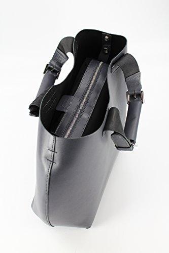 BELLI® exclusive italienische Leder Handtasche - Farbauswahl - 41x32x15 (B x H x T) Grau