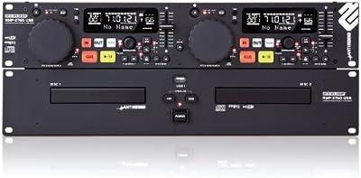 Reloop RMP-2760 USB reproductor de CD - Unidad de CD (LCD, 100 - 240 V, 50/60 Hz, Negro, Plata)