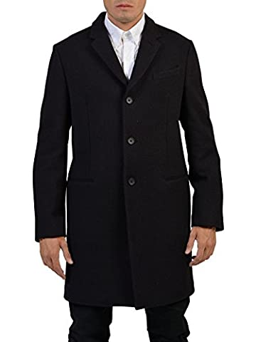Balenciaga Homme 439098Tsf065111 Noir Laine Manteau
