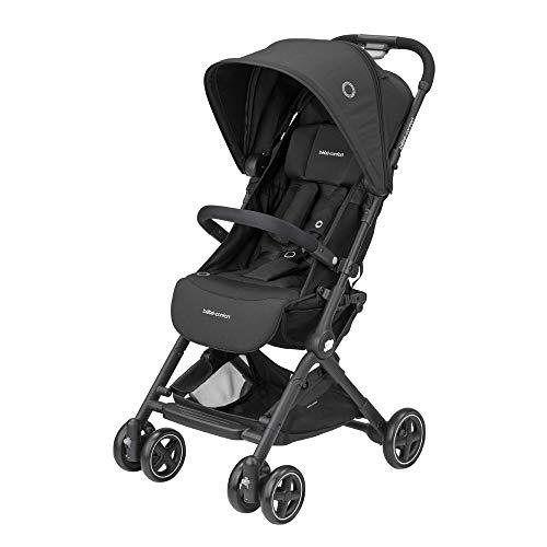 bébé confort lara passeggino pieghevole ultra compatto, unisex bambini, dalla nascita fino a 3.5 anni/0-15 kg, nero (essential black)