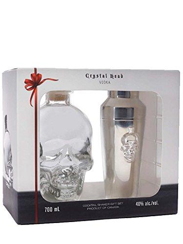 Crystal Head Vodka 0,7 Liter + 1 Cocktail Shaker in GP Crystal Shaker