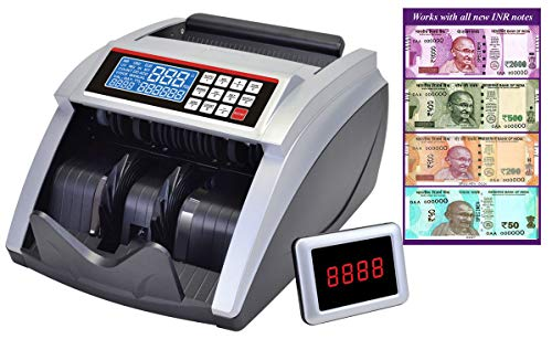 BME Elite - Lite_LCD Money Cash Counting Machine with Fake Note Currency Checking Detection Technology Latest Can Count All New & Old INR Notes.