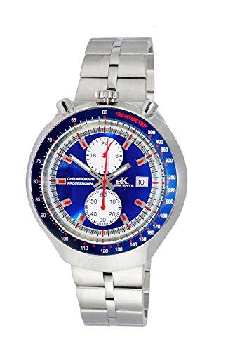 Adee Kaye Men's Quartz Stainless Steel Casual Watch, Color:Silver-Toned (Model: AK5662-MBU)