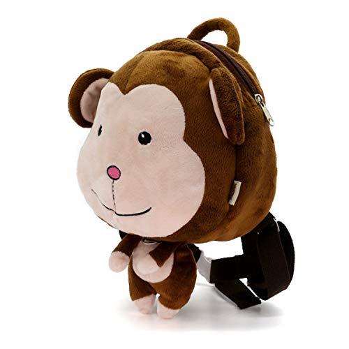 LUXIAO Nette 3D Cartoon Tier plüsch Anti-verlorene Kinder Rucksack Kindergarten frühen Bildung Tasche (1~5 Jahre alt) (Kleiner AFFE)