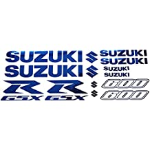 Twisted Melon Suzuki GSXR 600 - Juego de 10 Adhesivos con gráficos, Azul Cromado