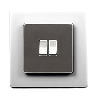 Single Light Switch Surround Acrylic Finger Plate Panel Socket MORE COLOURS – 25% OFF WHEN YOU BUY 2 OR MORE (White)