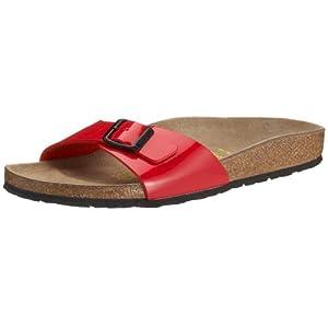 Birkenstock Madrid Unisex-Adults' Sandals Red (Tango Red Lack) - 5 UK