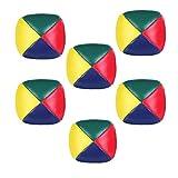 Rmeet Palline da Giocoleria,6 Pack Mini Giocoleria Palle Set Morbido Facile Giocoliere Palle in Pelle PU per Principianti Ragazzi Ragazze Bambini Adulti Multicolore