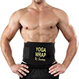 #5: Saundarya Yoga Wrap Sweat Belt Tummy Trimmer for Men and Women fit for 28 to 50 Inches Waist