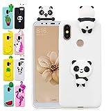 LA-Otter Housse Etui Coque Apple iPhone XS Max Panda Blanc Ultra Fine Slim Mince Silicone TPU Gel Bumper avec Motif 3D Kawaii Case Cover Fille Femme Antichoc