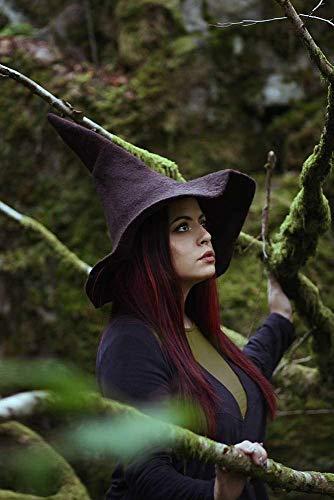 Hexenhut braun wolle, Halloween kostüm