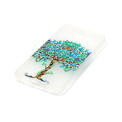 CaseHome Samsung Galaxy A3 (2016)/A310F Luminous Hülle (Mit Frie Displayschutzfolie) Leuchtende Silikone Rückhülle Für iPhone 6 6s Plus 5.5 Zoll Zoll Silikon Etui Handy Hülle Weiche Transparente Lumin Baum des Lebens
