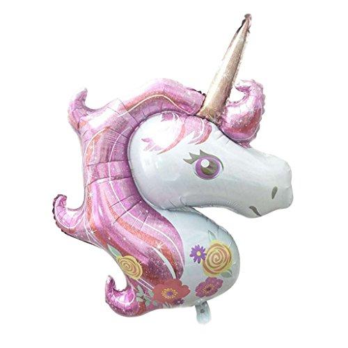 MagiDeal Globo de Aluminio Grande Unicornio para Cumpleaños de Niños Decoración de Fiesta de Color Rosa