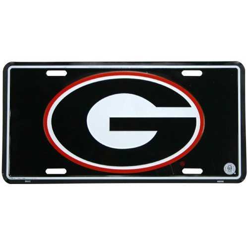 University of Georgia License Plate Tin Sign 6 x 12in by Tromic Gifts