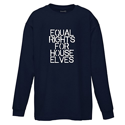 Equal Rights For House Elves, Langarmshirt für Kinder, Dunkelblau/Weiß, 7-8 Jahre