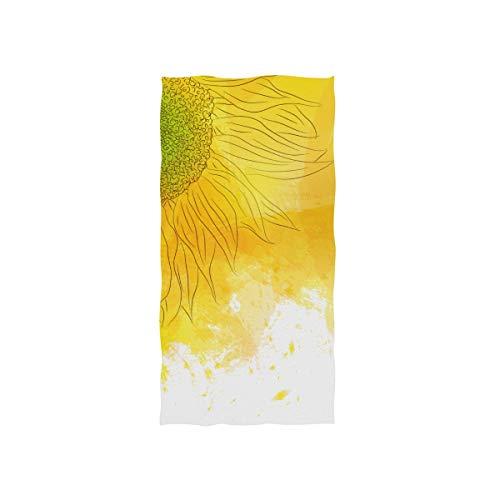 Cartoon Schöne Sonnenblume Weiche Spa Strand Badetuch Fingerspitze Handtuch Waschlappen Für Baby Erwachsene Bad Strand Dusche Wrap Hotel Travel Gym Sport 30x15 Zoll