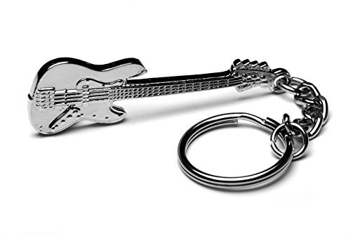 Music polished silver-plated keyring gift musician teacher musician conductor-Fender Bass