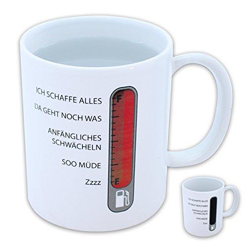 Lustiger Kaffeebecher 'Barometer' mit Gemütszustands Anzeige