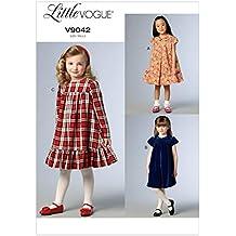Vogue V9042 - Patrones de costura para vestidos de niña, CDD (2-3