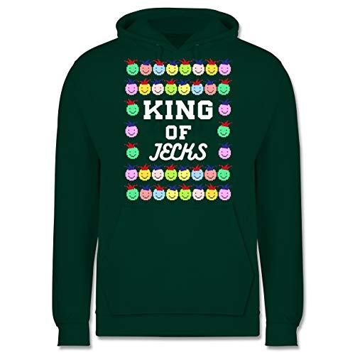 Karneval & Fasching - King of Jecks - XS - Dunkelgrün - JH001 - Herren ()