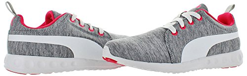 Puma Carson Runner Heather Synthétique Chaussure de Course Gray-White-Bright Plasma