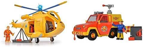 Simba 109251002 - Feuerwehrmann Sam Hubschrauber Wallaby