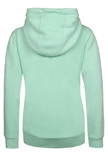 SUBLEVEL Damen Sweathoodie I Sportlich-Eleganter Kapuzenpullover mit hohem Baumwollanteil light-turquoise