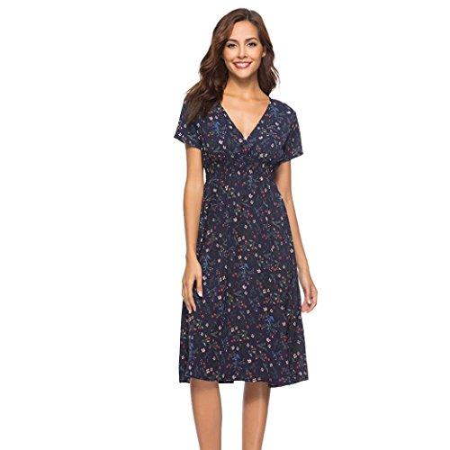 A Line Kleid Damen Chiffonkleid Kurz, Kingprost Sommerkleider Elegant Minikleid Sommer Abendkleid...