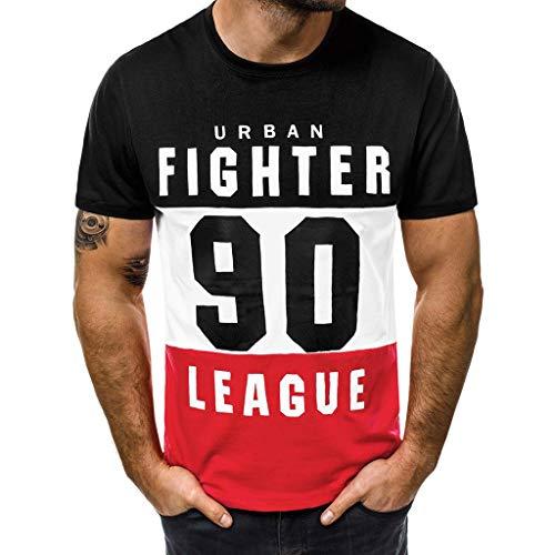 Homme Ete T-Shirt Sport Slim Fit 2019 Nouvel Soldes Mode Casual Pas Cher A La Mode Manche Court Lettre Imprimé Tops Blous