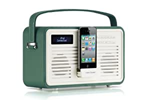 Viewquest Colourgen Radio portable rétro 30 prises Vert émeraude